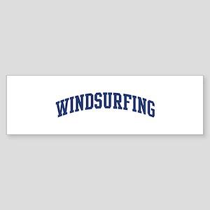 Windsurfing (blue curve) Bumper Sticker
