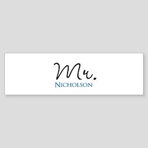 Customizable Name Mr Sticker (Bumper)