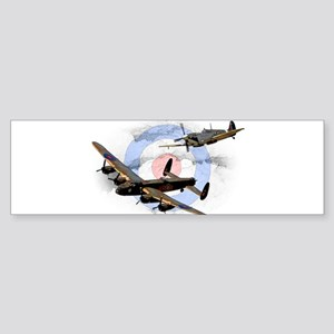 Spitfire and Lancaster Bumper Sticker