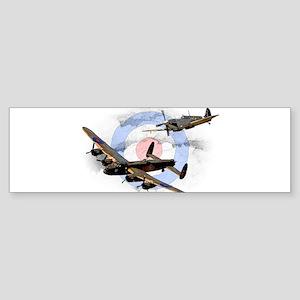 Spitfire and Lancaster Bumper Sticker