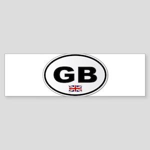 GB Plate Bumper Sticker