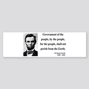 Abraham Lincoln 30 Bumper Sticker
