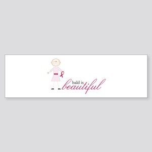 Bald Is Beautiful Bumper Sticker
