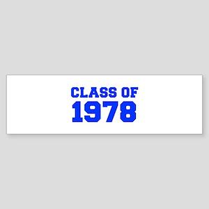 CLASS OF 1978-Fre blue 300 Bumper Sticker