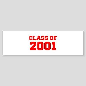 CLASS OF 2001-Fre red 300 Bumper Sticker