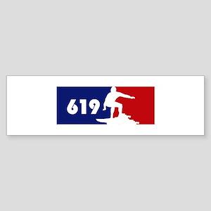 619 Surf Bumper Sticker