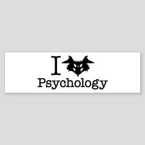 I Heart (Rorschach Inkblot) Psychology Bumper Stic