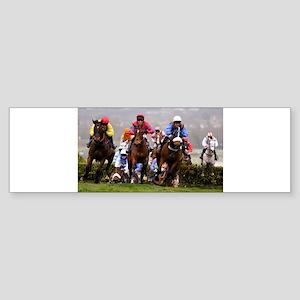 racing horses Bumper Sticker