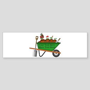 Personalized Green Wheelbarrow Sticker (Bumper)