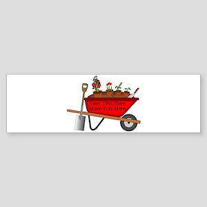 Personalized Red Wheelbarrow Sticker (Bumper)