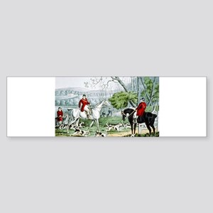 Fox chase - Throwing off - 1846 Sticker (Bumper)