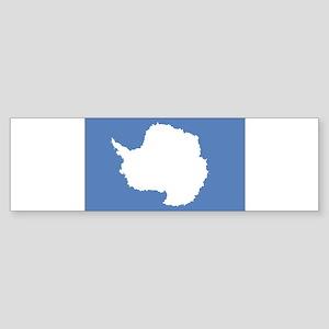 Antarctic flag Sticker (Bumper)