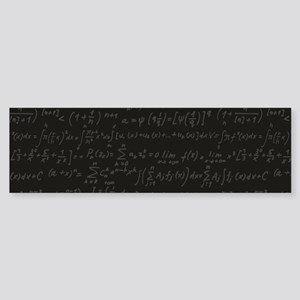 Scientific Formula On Blackboard Bumper Sticker