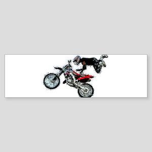 Motocross Jump Splatter Bumper Sticker