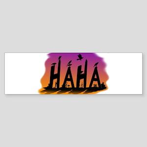 HAHA - The Harris' Hawk Bumper Sticker