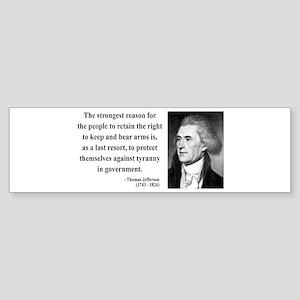 Thomas Jefferson 7 Bumper Sticker