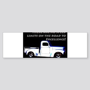 No Speed Limits Bumper Sticker