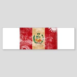 Peru Flag Sticker (Bumper)
