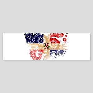 Dominican Republic Flag Sticker (Bumper)