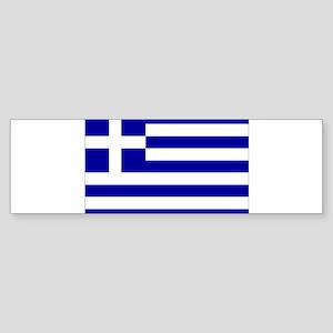 Greece Flag Sticker (Bumper)