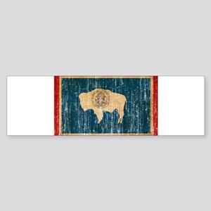 Wyoming Flag Sticker (Bumper)