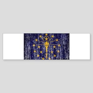 Indiana Flag Sticker (Bumper)