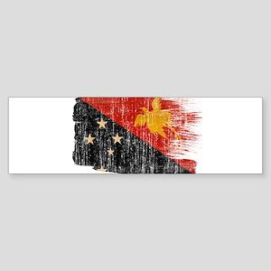 Papua new Guinea Flag Sticker (Bumper)