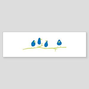 BLUEBIRDS ON A TWIG Bumper Sticker
