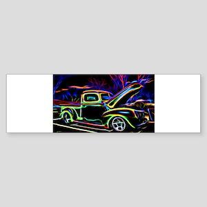 1940 Ford Pick up Truck Neon Bumper Sticker