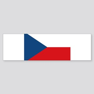 Flag of the Czech Republic Bumper Sticker