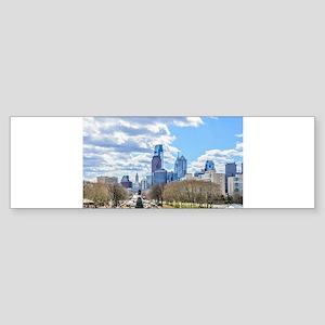 Philadelphia cityscape skyline view Bumper Sticker