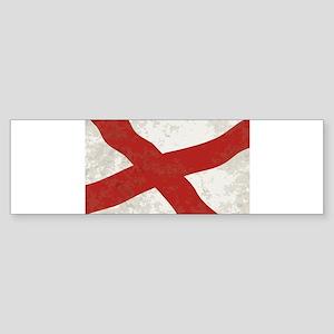 Alabama Sate Flag Grunge Bumper Sticker