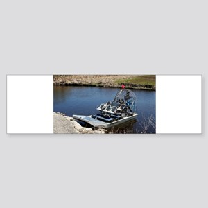 Florida swamp airboat 2 Bumper Sticker