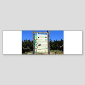 El Camino sign, near Cruz de Ferro Bumper Sticker