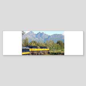 Alaska Railroad locomotive engine & Bumper Sticker