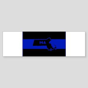 Thin Blue Line - Massachusetts Bumper Sticker