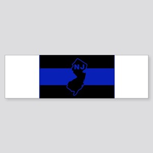 Thin Blue Line - New Jersey Bumper Sticker