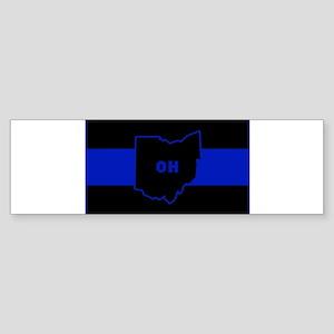 Thin Blue Line - Ohio Bumper Sticker