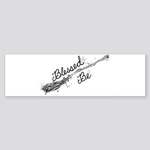 Blessed Be with Broom Bumper Sticker