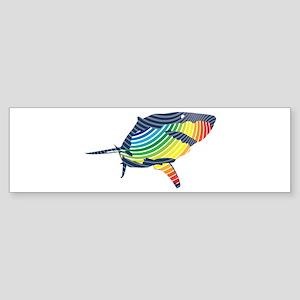 great white rainbow shark Bumper Sticker