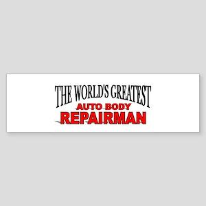 """The World's Greatest Auto Body Repairman"" Sticker"
