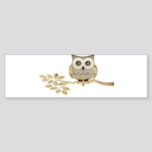 Wide Eyes Owl in Tree Sticker (Bumper)