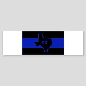 Thin Blue Line - Texas Sticker (Bumper)