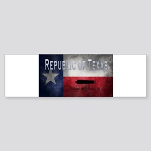Republic of Texas Bumper Sticker