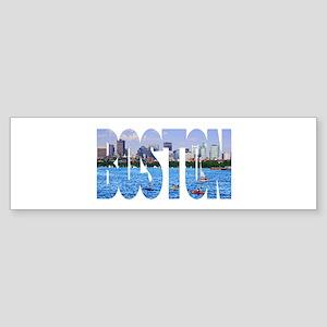Boston Back Bay Skyline Sticker (Bumper)