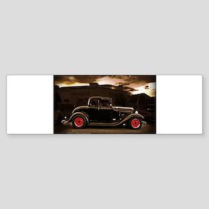 1932 black ford 5 window Bumper Sticker