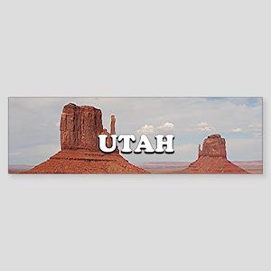 Utah: Monument Valley Bumper Sticker