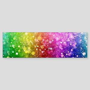 Vibrant Colors Colorful Modern Boke Bumper Sticker