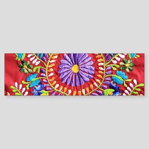 Mexican Embroidery Bumper Sticker