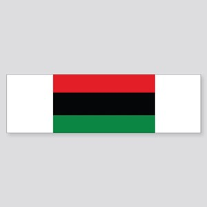The Red, Black and Green Flag Bumper Sticker